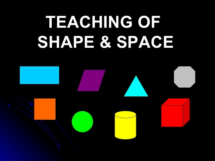 TEACHING OF  SHAPE & SPACE