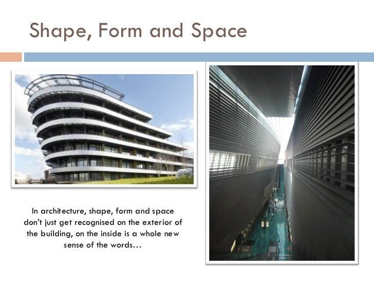 Shape And Form In Design : Shape form space