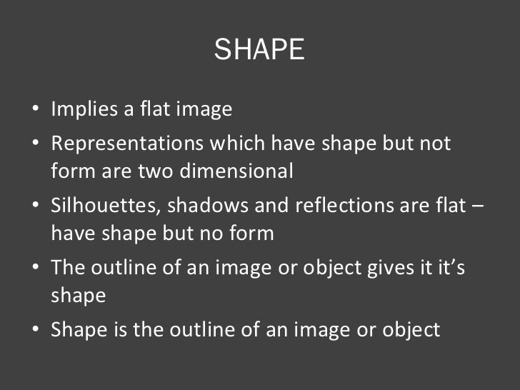 Form Shape And Space : Shape form space