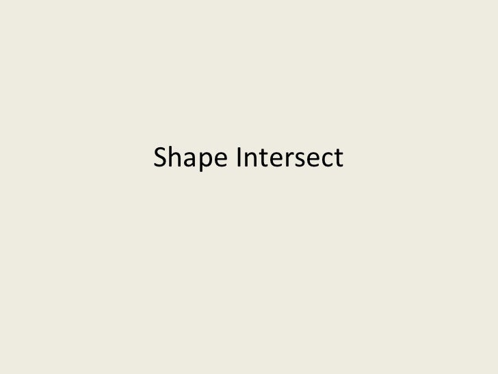 Shape Intersect in PowerPoint