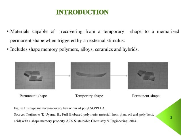 self healing materials and shape memory polymers Doi: 101002/adfm200701208 embedded shape-memory alloy wires for improved performance of self-healing polymers by eva l.