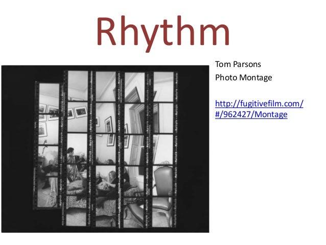 Shape, pattern, repetition, rhythm