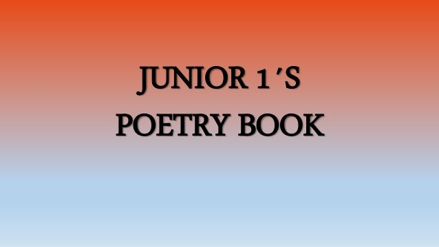 JUNIOR 1´S POETRY BOOK
