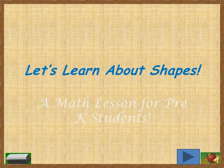 Let's Learn About Shapes!   A Math Lesson for Pre      K Students!