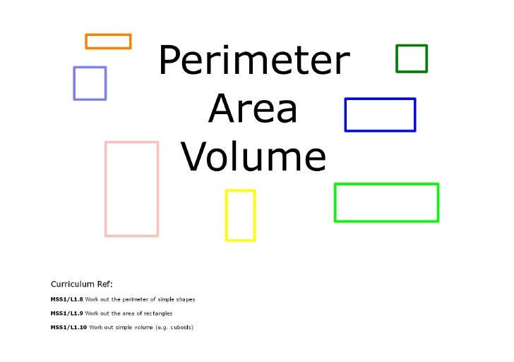 Intro to Perimeter, Area and Volume