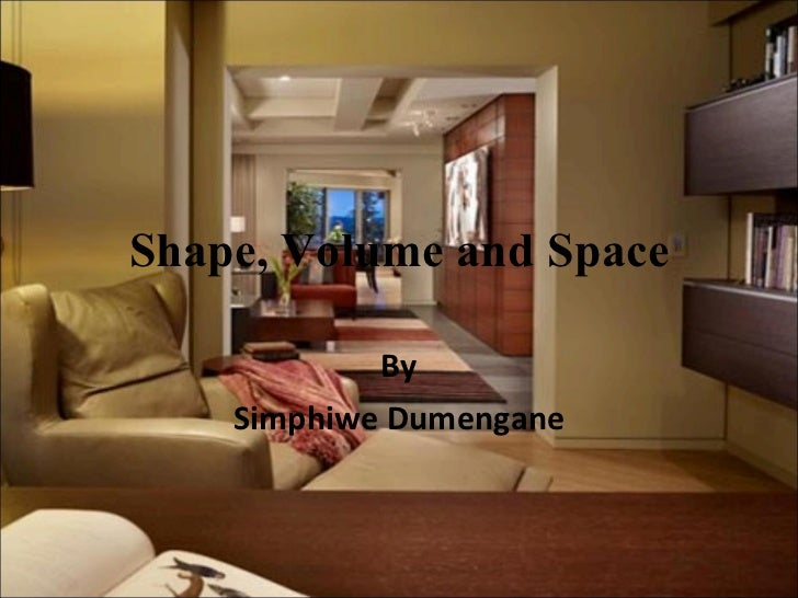 Shape, Volume and Space By Simphiwe Dumengane