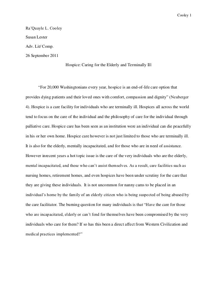 Senior research project essay
