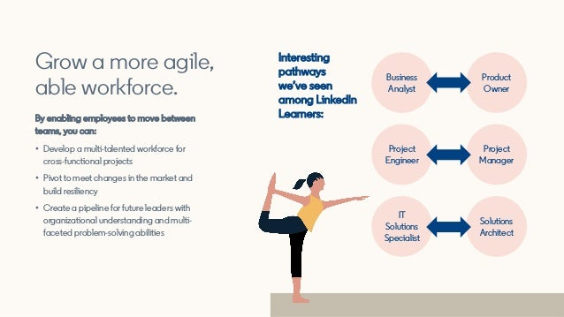 Interesting pathways we've seen among LinkedIn Learners: Grow a more agile, able workforce. By enabling employees to move ...