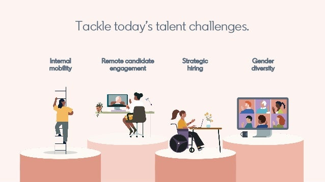 Tackle today's talent challenges. Internal mobility Strategic hiring Gender diversity Remote candidate engagement
