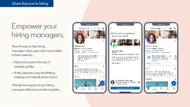 Empower your hiring managers. Now it's easy to help hiring managers make open roles more visible to their networks. • Atta...