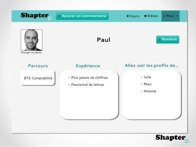 Shapter - Journée de l'innovation à Télécom ParisTech 2013