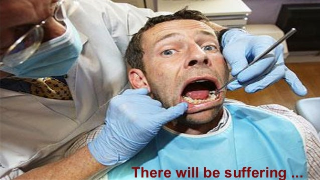 There will be suffering ...