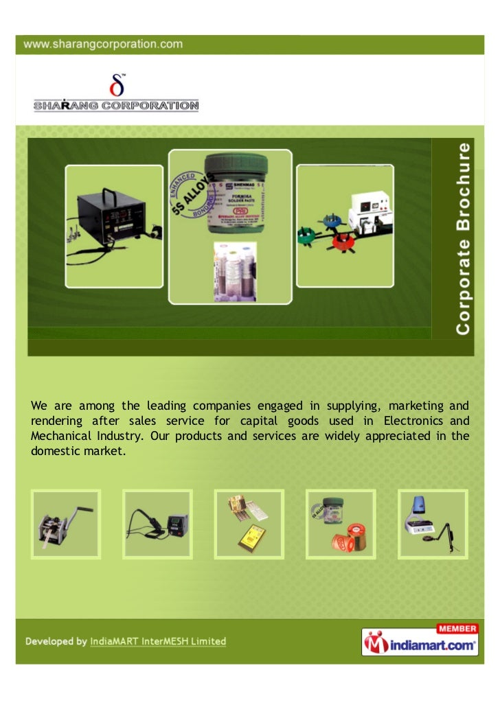We are among the leading companies engaged in supplying, marketing andrendering after sales service for capital goods used...