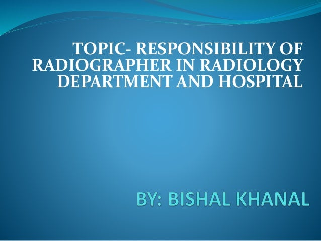 radiographer duties and responsibilities pdf
