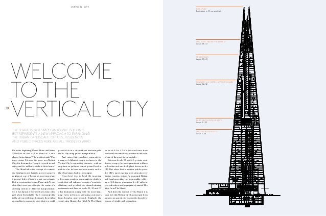 THE SPIRE  Equivalent to 95 storeys high  THE VIEW FROM THE SHARD  Levels 68 – 72  RESIDENCES  Levels 53 – 65  SHANGRI-LA ...