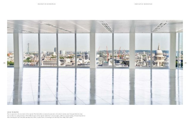 innoavtive wor k sap c e innoavtive wor k sap c e  VIEWS TO INSPIRE  From its position in the very heart of the capital, T...