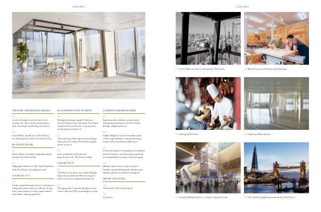 cont ent s cont ent s  A Beacon For Modern London  08  London Bridge is on the rise as the  location for 21st-century busi...