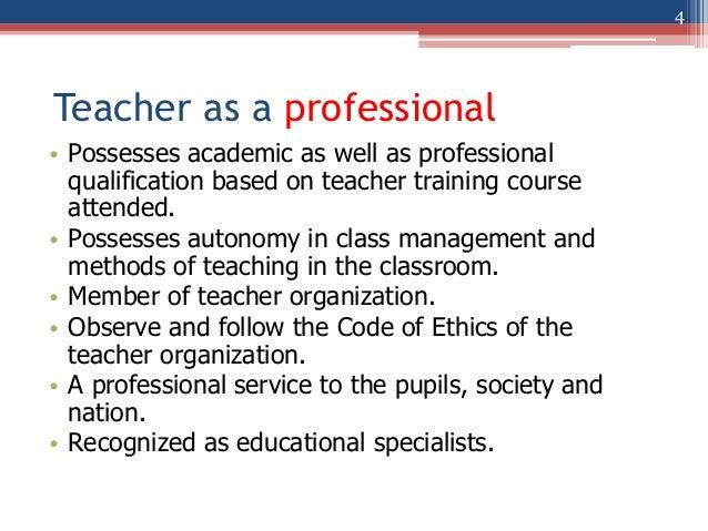 Teacher ethics