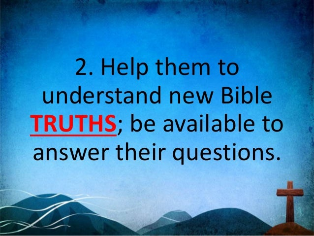 1. Crucial truths: A.The Bible B.Baptism and the Lord's Supper C.The Life, Death & Resurrection of Jesus D.The Church