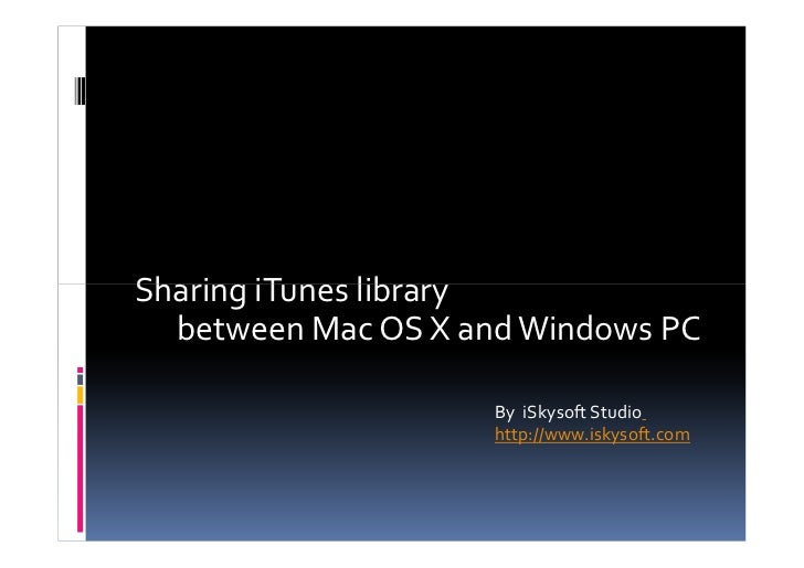 How to Share iTunes Library Between Computers - Using Home Sharing