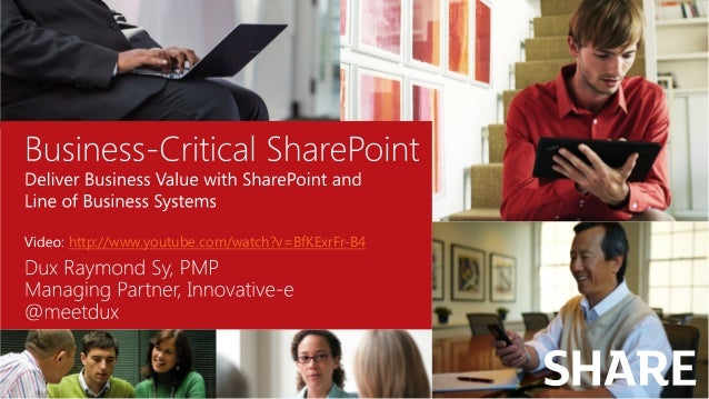 http://www.youtube.com/watch?v=BfKExrFr-B4 SHARE The SharePoint Conference for Business Users