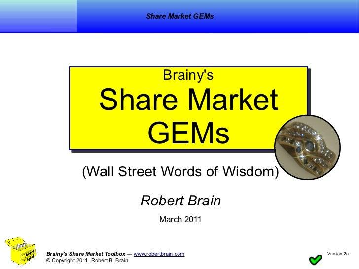 Share Market GEMs                                          Brainys                                          Brainys       ...