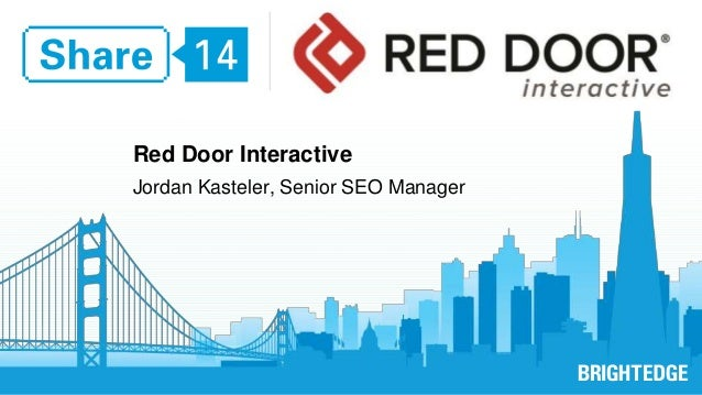 Red Door Interactive  Jordan Kasteler, Senior SEO Manager