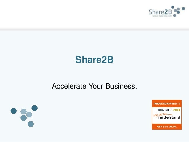 Share2BAccelerate Your Business.