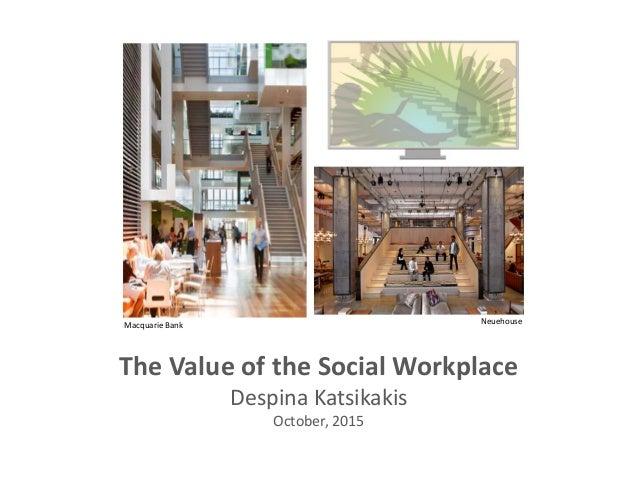 The Value of the Social Workplace Despina Katsikakis October, 2015 NeuehouseMacquarie Bank
