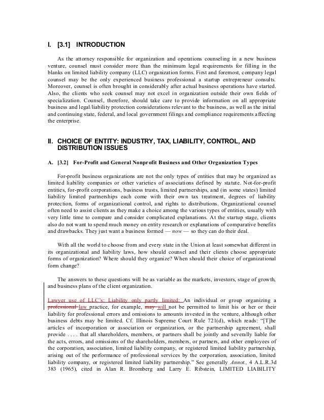 Organizing An Illinois Limited Liability Company