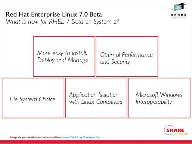 Share org Anaheim 2014 v3 - Red Hat Update for IBM System z