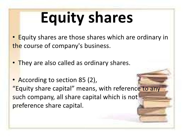 meaning of equity shares and preference shares