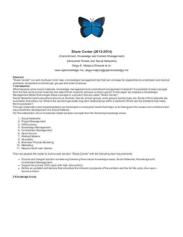 ShareCenter(20122014) (Commitment,KnowledgeandContentManagement) (HorizontalPortalsandSocialNetworks) DiegoE....