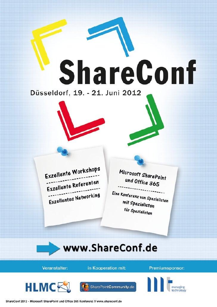 ShareConf 2012 - DIE Konferenz über Microsoft SharePoint und Office 365