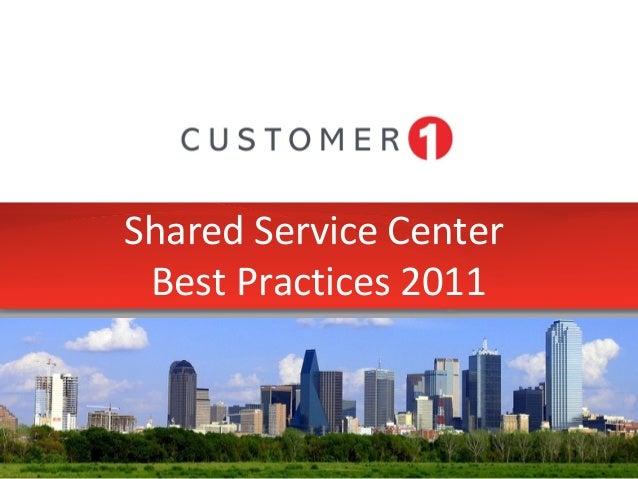 Shared Service Center Best Practices 2011