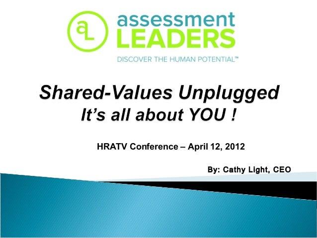 By: Cathy Light, CEOHRATV Conference – April 12, 2012