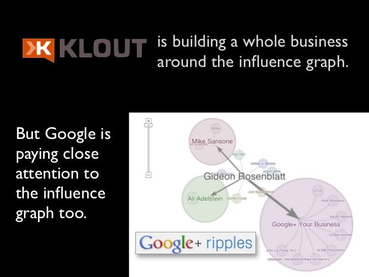 is building a whole business                around the influence graph.But Google ispaying closeattention tothe influencegra...