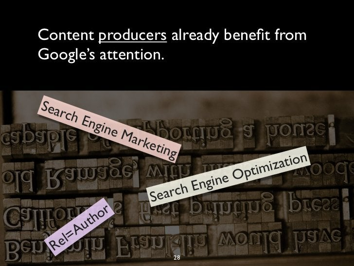 Content producers already benefit fromGoogle's attention.Sear    ch E          ngin               eM                 arke  ...