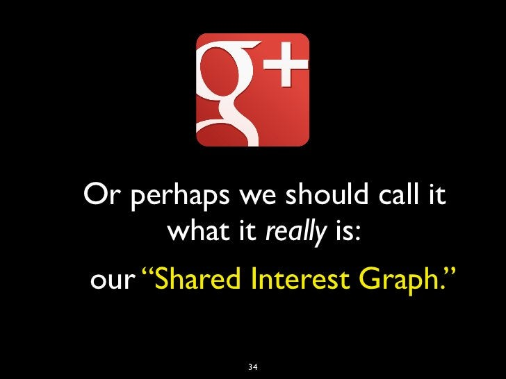 """Or perhaps we should call it     what it really is:our """"Shared Interest Graph.""""            34"""