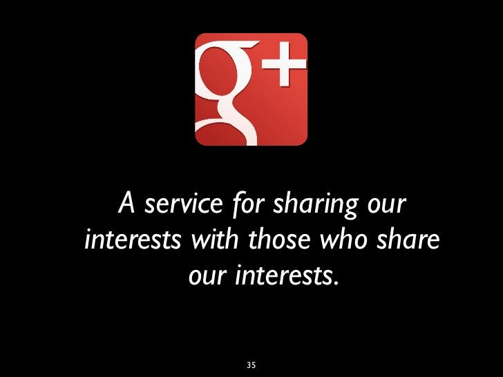 A service for sharing ourinterests with those who share          our interests.             35