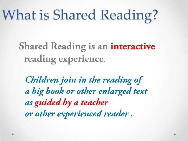 shared reading Reading curriculum portfolio home page a suggested teaching  sequence for shared reading 1 decide on the focus shared reading  lends.