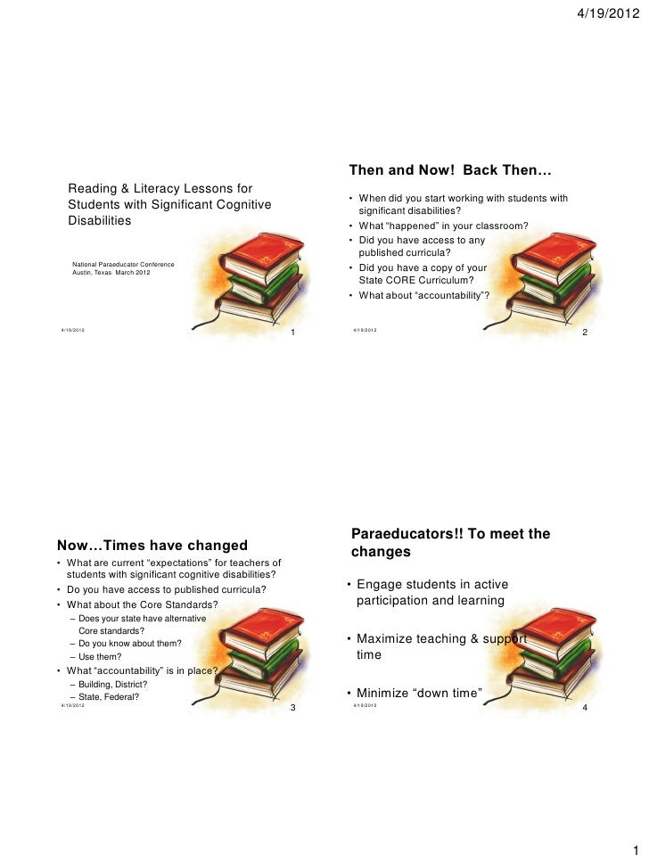 4/19/2012                                                          Then and Now! Back Then…   Reading & Literacy Lessons f...
