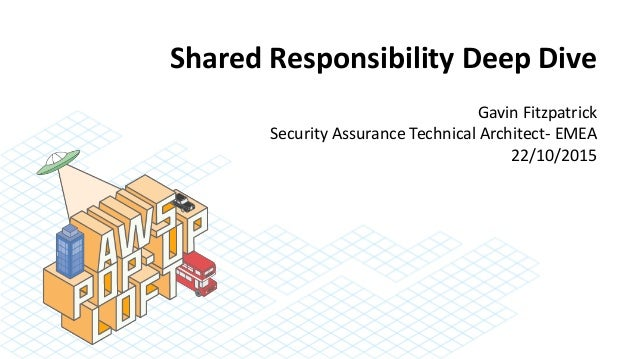 Shared Responsibility Deep Dive Gavin Fitzpatrick Security Assurance Technical Architect- EMEA 22/10/2015