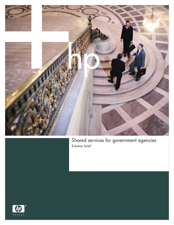 Shared services for government agenciesSolution brief