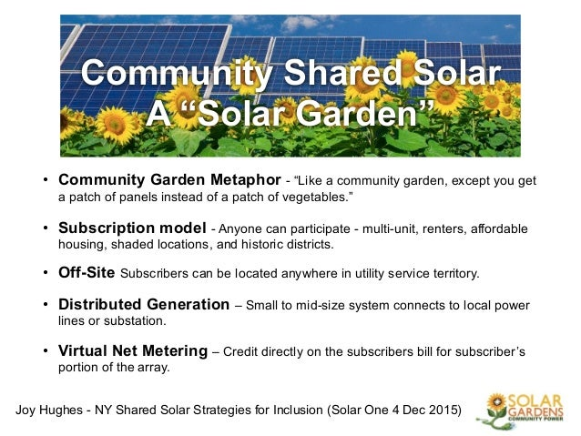 Shared Solar For Low To Moderate Income