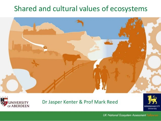 Dr Jasper Kenter & Prof Mark Reed Shared and cultural values of ecosystems
