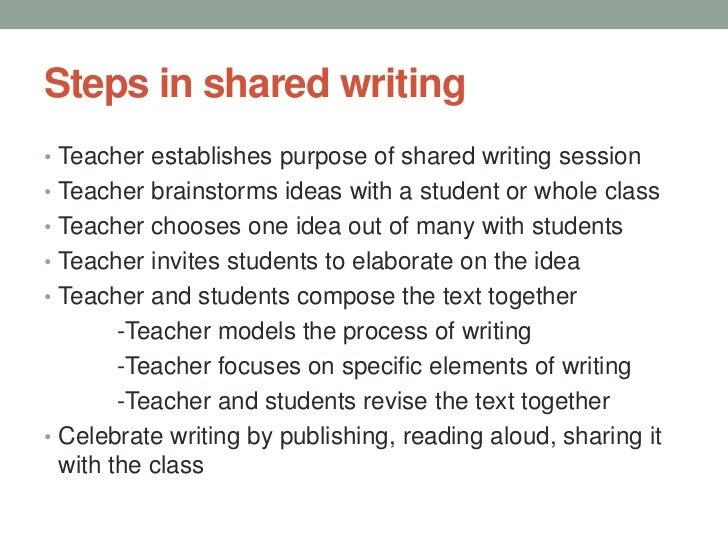 shared writing activities
