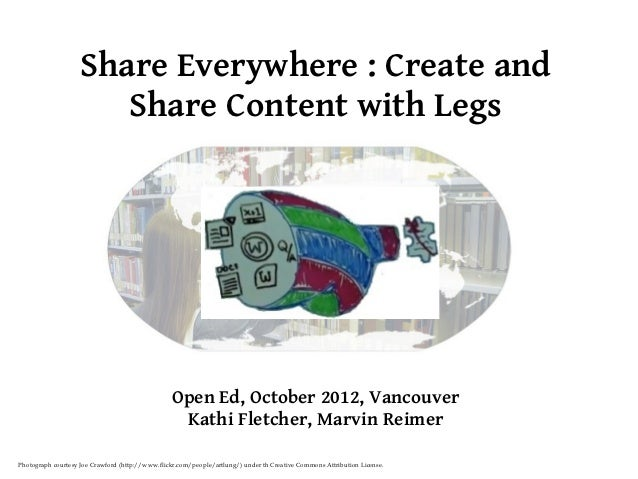 Share Everywhere : Create and                       Share Content with Legs                                               ...