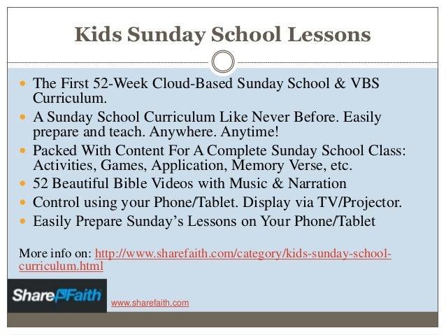 Sharefaith Kids Sunday School Lessons