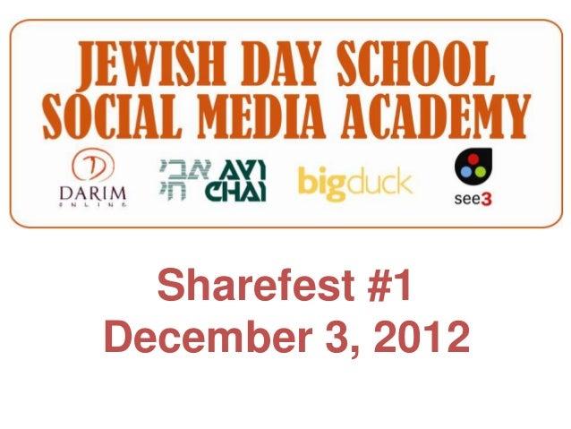 Sharefest #1December 3, 2012